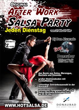 Salsa Dienstag Donaubad Donaubar Walter Alvarado Hotsalsa